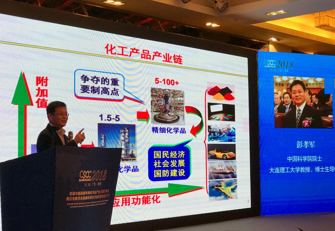 首届中国高端专用化学品峰会举行 工业互联网平台助产业转型升级